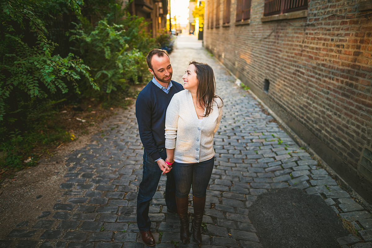 Chicago-Alley-Brick-ENgagement-Photos
