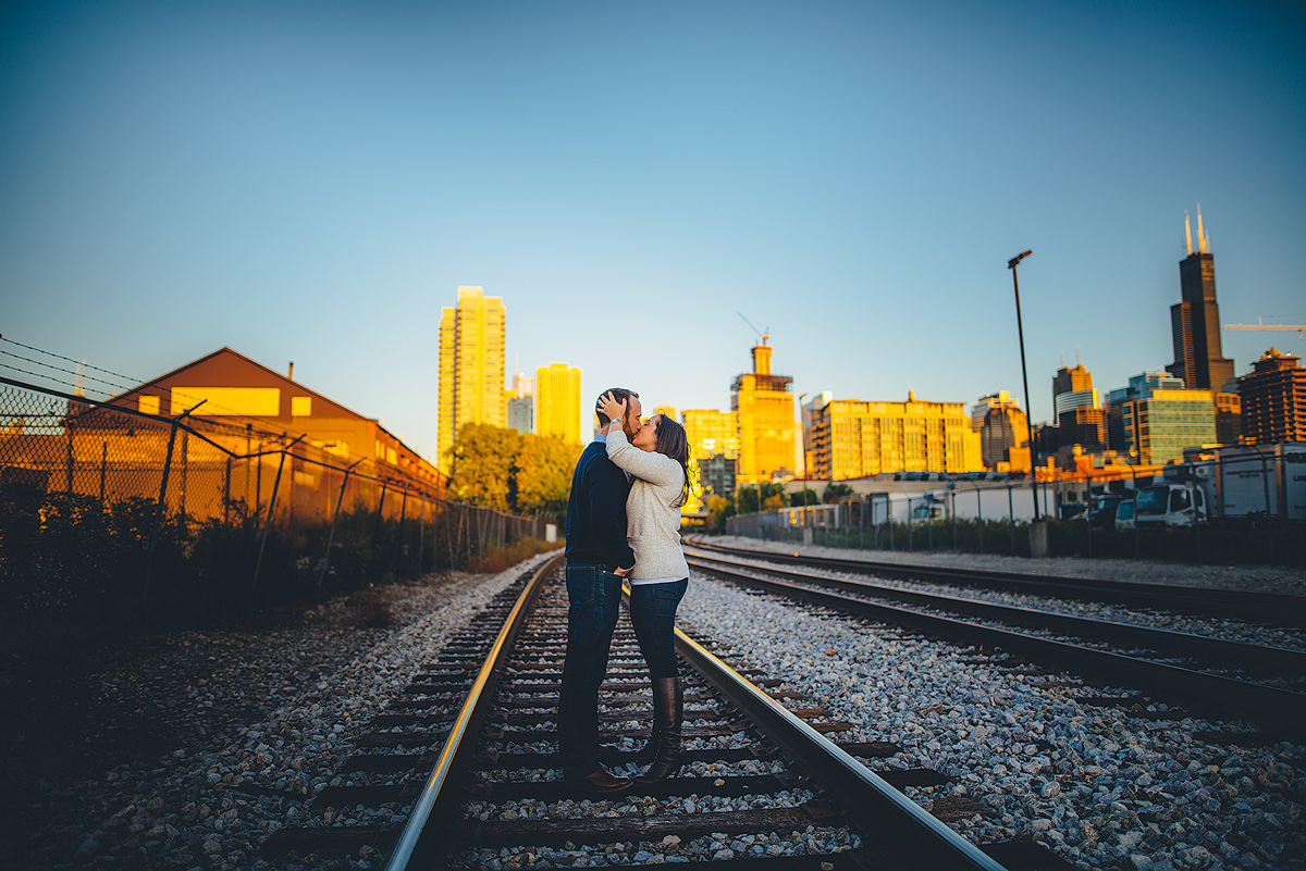 Chicago-Railroad-tracks-engagement