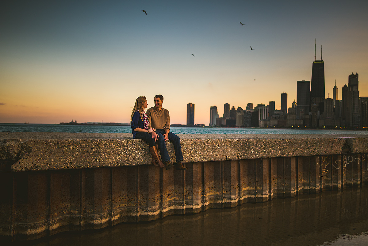 Beautiful-Chicago-Sunset-Engagement