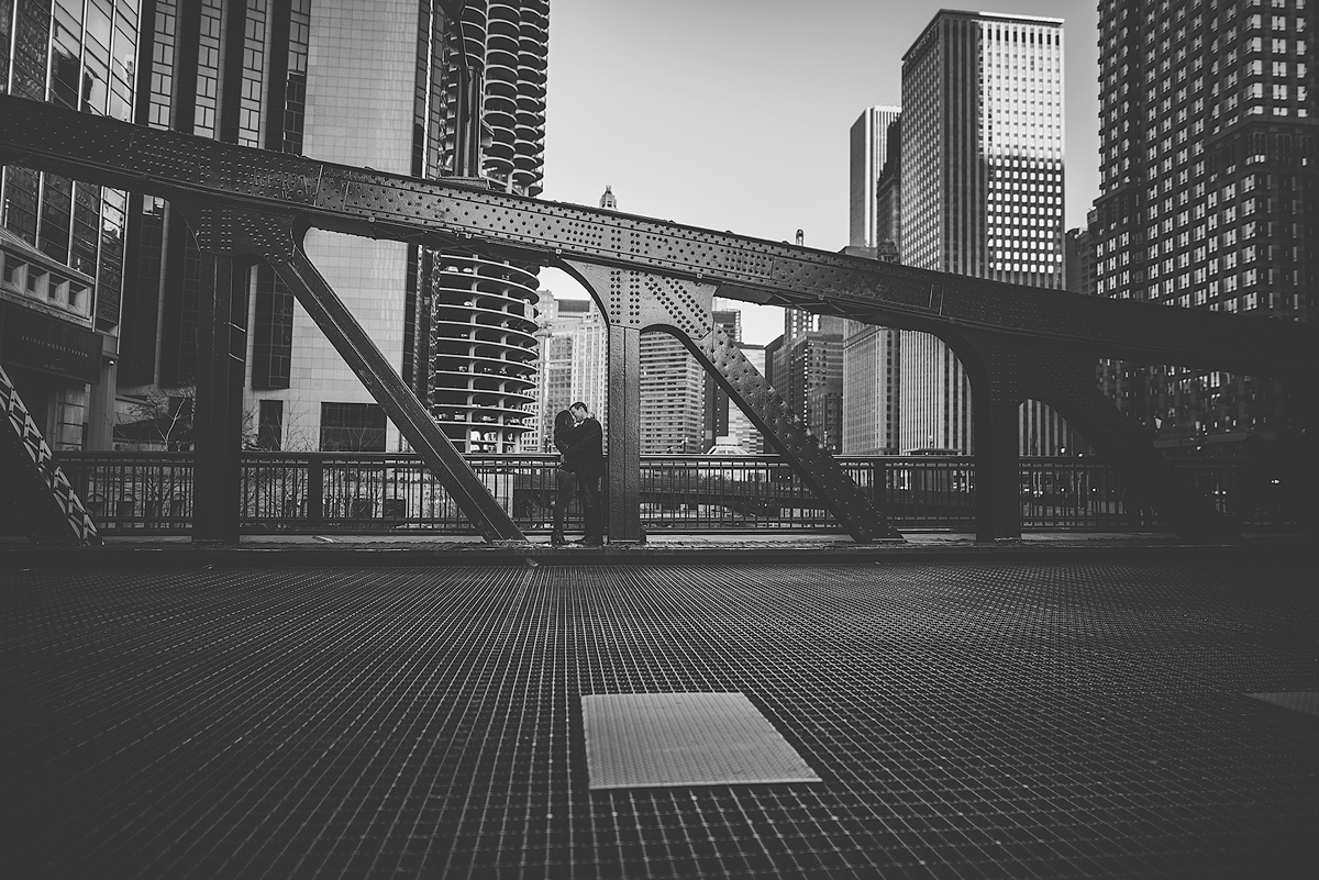 Chicago-Bridge-Engagement-Photo