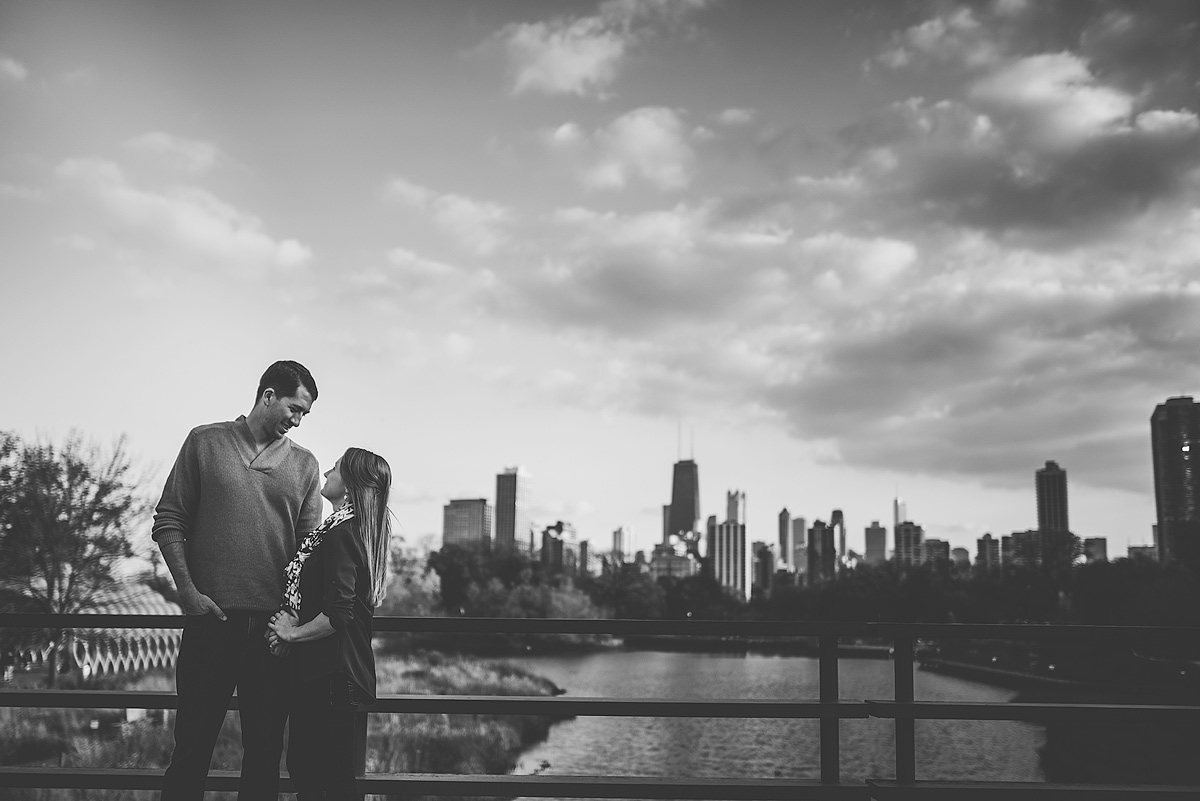 Chicago-Skyline-South-Pond-Engagement