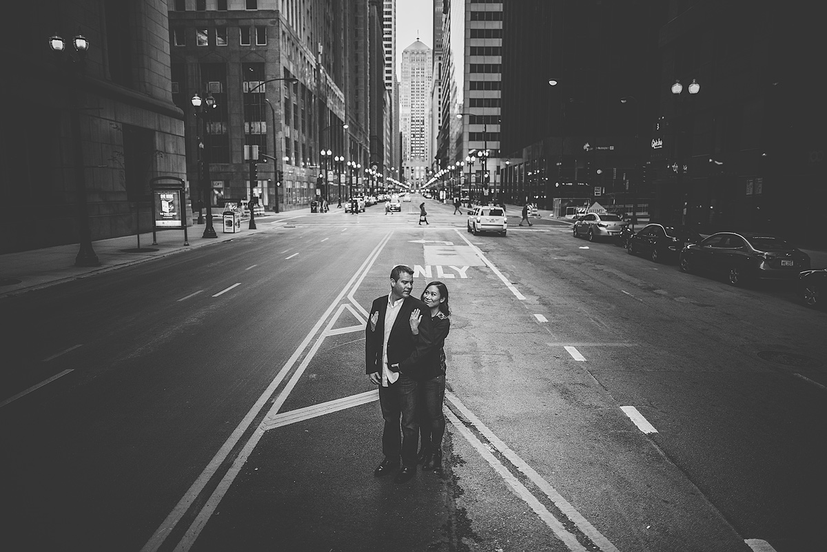 Lasalle-Street-Engagement-Photo