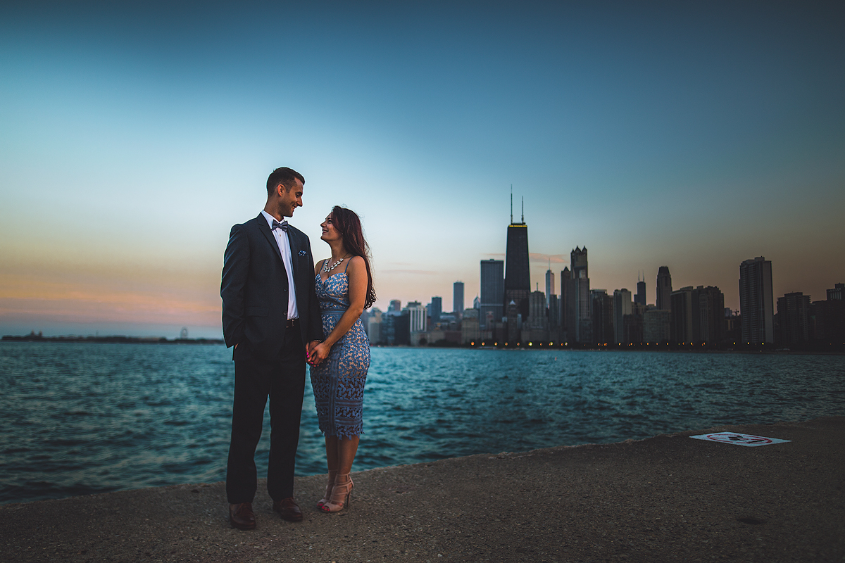 Chicago-Skyline-Engagement-Photo