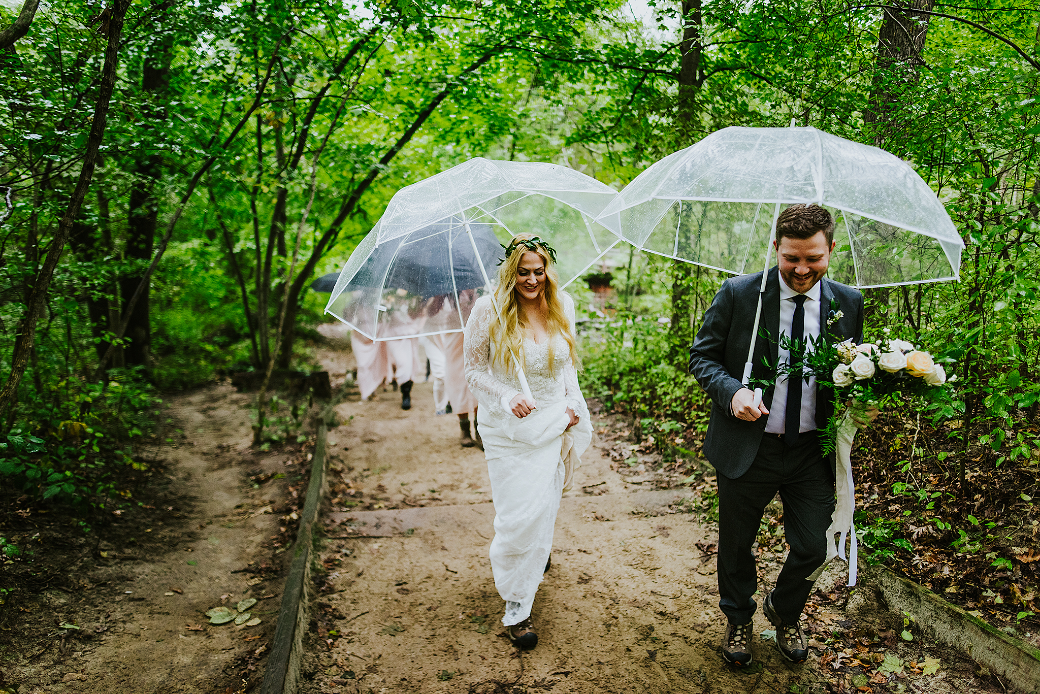 bride-groom-hiking-rain